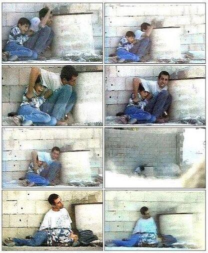 Sekuense dari Video Rekaman Penembakan Muhammad Al Durrah dan Ayahnya Jamal