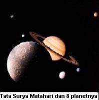 Tata Surya Matahari dengan 8 planetnya