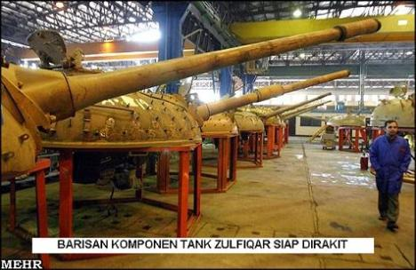 Barisan Komponen Tank Zulfiqar Siap Dirakit