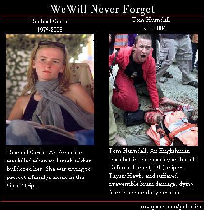 Israel kill American and English women