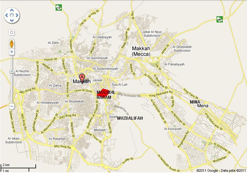 Peta Mekkah