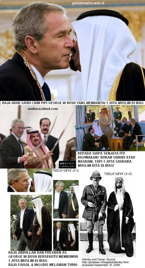 Raja Arab Saudi dan George W Bush Berciuman