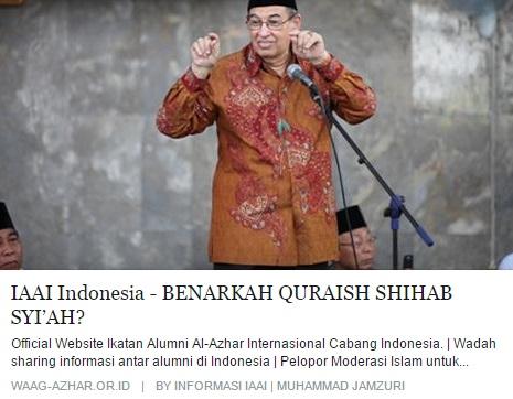 Benarkah Quraisy Shihab Syiah